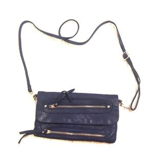 Handbags - Blue clutch with detachable shoulder strap